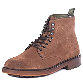 Mens Barbour Seaburn Derby Boots Leather Smart Work Office Ankle Boots 12