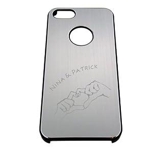 Handyhülle aus Aluminium silber für iphone5 mit Gravur