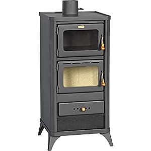 Prity FME – Estufa de leña con horno y cocina, 12 kW