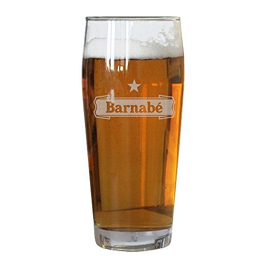 Verre à bière personnalisé avec un prénom gravé