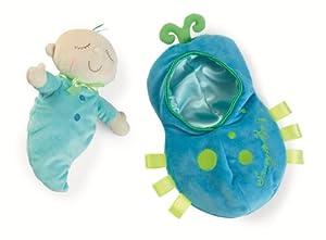 Manhattan Toy Snuggle Pod Snuggle Bug - Muñeca con Saco de Dormir para bebés de 6 Meses de Edad y más