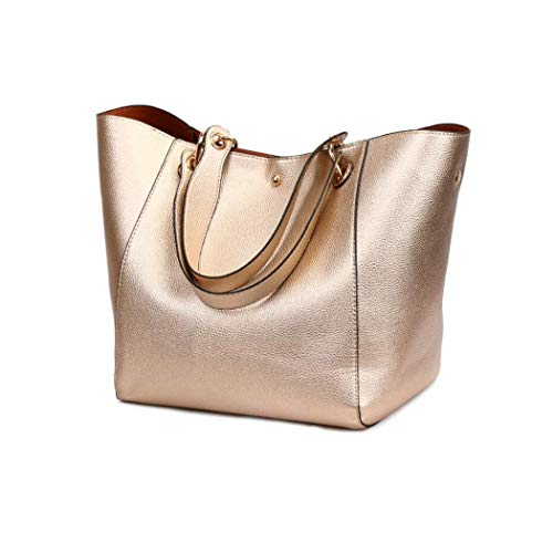 MWPO Women Leather Handbag Designer Tote Purse Shoulder Top-Handle Bags with Zipper Wallet -