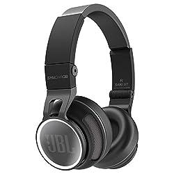 JBL Synchros S400BT Hochwertiger Wireless On-Ear Stereo-Kopfhörer mit Bluetooth und NFC Technologie Inkl. Transportetui - Schwarz