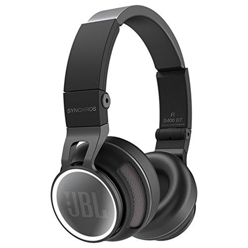 JBL Synchros S400BT Hochwertiger Wireless On-Ear Stereo-Kopfhörer mit Bluetooth und NFC Technologie Inkl. Transportetui - Schwarz thumbnail