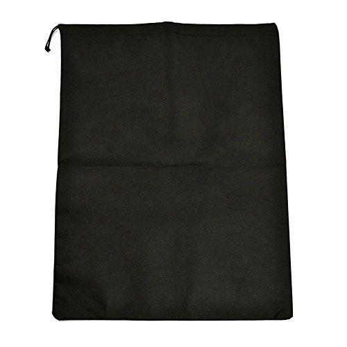 Electronics Corporation Pc (Teensery 10 Pcs Nicht gewebt Atmungsaktiv Reise Schuhe Taschen Kordelzug faltbare Schuhe Tote Taschen (schwarz))