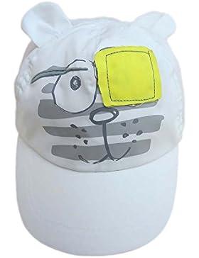 Gorra de béisbol del muchacho Sombreros de sol para niños Sombreros de playa Sombrero blanco en Lindo patrón de...