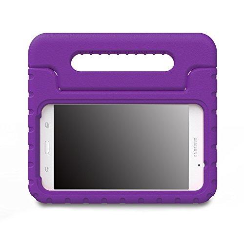 MoKo Samsung Galaxy Tab A 7.0 Hülle Case - Superleicht Eva Stoßfest Kinderfreundlich Kinder Schutzhülle mit umwandelbarer Handgriff Handle/Standfunktion für Samsung Galaxy Tab A 7.0 Zoll, Violett