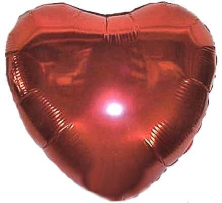 1 Stück Folienballon 'Herz', rot, ca. 45 cm Ø, mit LOLLIPOP®-Gasfüllung (Zum Rote Verkauf Luftballons)