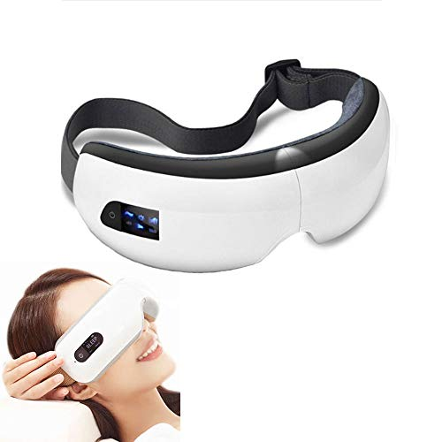 Drahtlose Eye Massager luftkompression Augen Massage Bluetooth-Musik intelligente Vibration Augen Heizung Brille Zusammenklappbare Schutz Vision Relief Müdigkeit Ablehnung dunkler Kreise,White