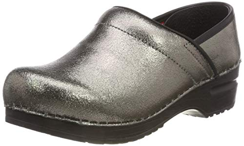 Sanita Damen Original Professional Metallica Closed Clogs, Grau (Pewter 20), 36 EU Sanita Professional Clogs