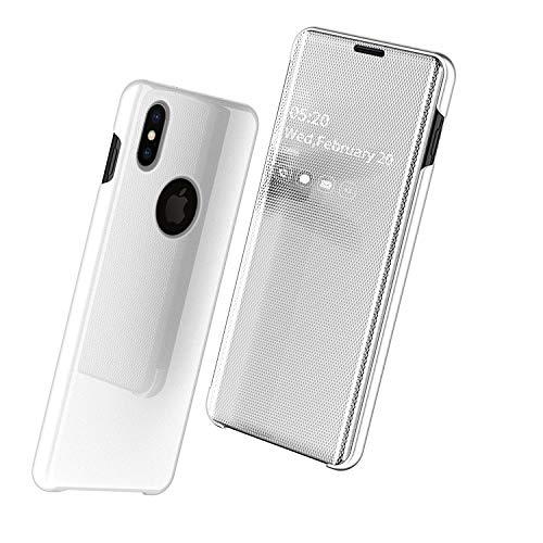 """Nadoli Mirror Hülle für iPhone Xs 5.8"""",Luxus Ultradünn Clear View Vorderseite und Hart Zurück Spiegel Schlank Flip Schutzhülle Etui für iPhone Xs/X 5.8"""""""