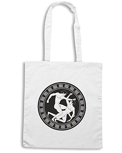 T-Shirtshock - Borsa Shopping TAM0197 MMA lotta greco romana tshirt hoodie Bianco