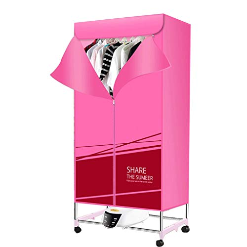 Asciugatrice portatile riscaldatore elettrico 1300w stendino pieghevole aria calda asciugabiancheria asciugatura rapida a casa con telecomando (colore : pink)