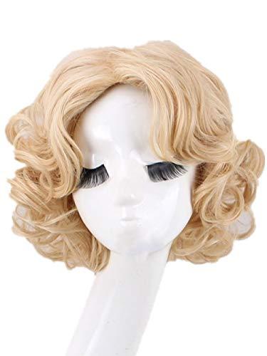 ZYFBN Perücke weibliches kurzes Haar rundes Gesicht Perücke Set Frisur hitzebeständiges Material, geeignet für Partys und Alltag