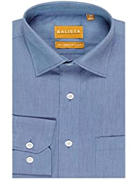 BALISTA Men's SOLID BLUE FORMAL SHIRT