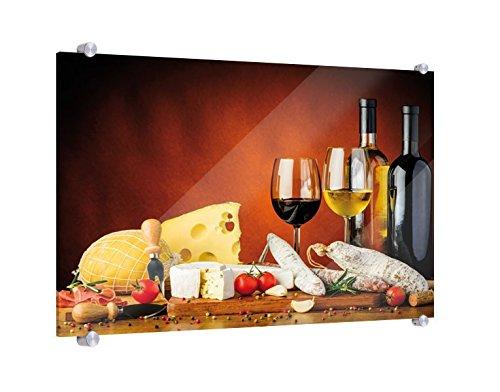 Klebefieber Spritzschutz Käse, Wurst und Wein B x H: 60cm x 40cm