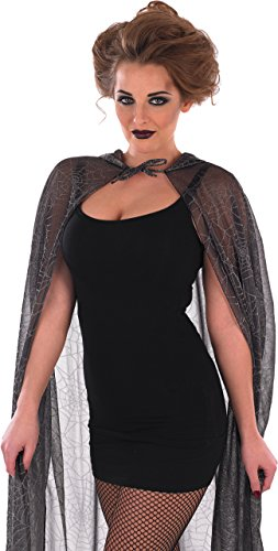HOODED SPIDER WEB CAPE (Spider Web Cape)