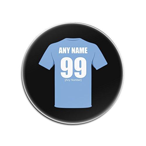 UniGift - Set von 4 x Coventry City Glänzende Hartfaserplatte Untersetzer (Fußballclub-Design, Farboptionen) - Jeder Name/Nachricht auf Ihrem einzigartigen Pad - The Sky Blues Skyblues, Schwarz, Rund (Auf Mädchen Sky)