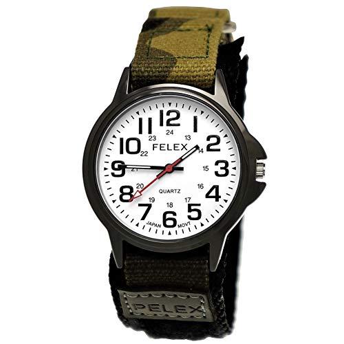 Coole NY London Kinder-Uhr Jungen-Uhr Mädchen-Uhr für Kinder Analog Quarz Textil Nylon Armband-Uhr Schwarz Anthrazit Grün Camouflage Weiß Japanisches Qualitäts Uhrwerk