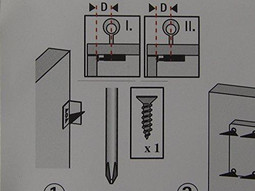Hettich Nutbart-Aufschraubschloß gleichschließend, Dornmaß 30 mm, Stahl blank,1 Stück, 9100021
