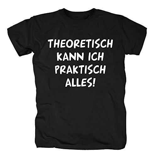 TSP Theoretisch kann ich praktisch alles T-Shirt Herren L Schwarz