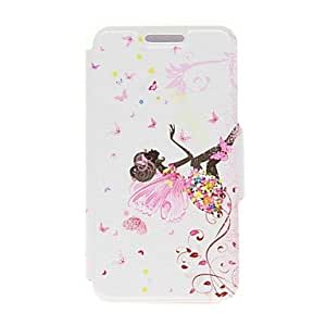 GENERIC Kinston® Butterfly Girl Pattern PU Leather Full Body Case with Stand for Nokia Lumia 630/635 #02597636