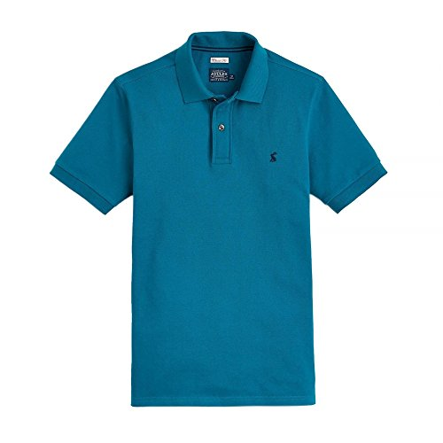 Joules Mens Woody Classic Fit Soft Cotton Polo Shirt teal