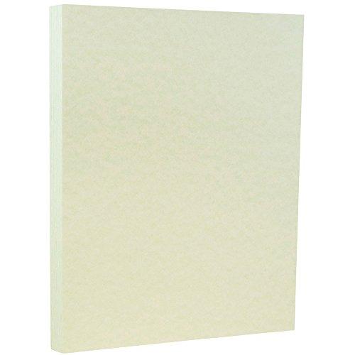 JAM PAPER Papel Pergamino - 215,9 x 279,4 mm - 90gsm - Verde Reciclado - 100 Hojas/Paquete
