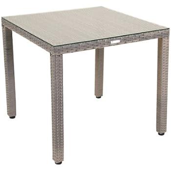 greemotion tisch manila klein grau bicolor gartentisch mit glasplatte fr den innen und - Esstisch Mit Banken Neue Kombinationen Fur Innenbereich Oder Ausenbereich