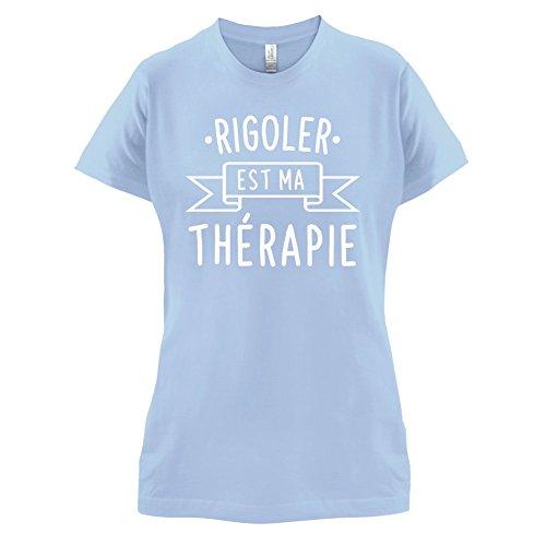 Rigoler est ma thérapie - Femme T-Shirt - 14 couleur Bleu Ciel