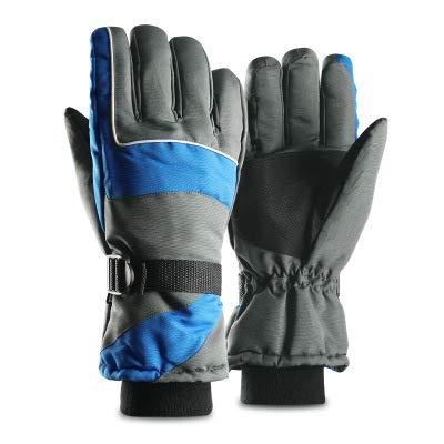 SHR-GCHAO Berühren Winter Outdoor Sports Handschuhe Screen Plus Velvet Thick Warm Reiten oder Fahren Rennen Ski-Handschuhe Blau,M