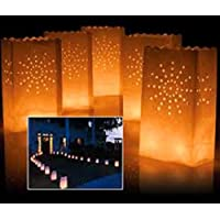 A LIITTLE TREE Pack of 10 (Sun) Luminary Candle Lantern Paper Bags