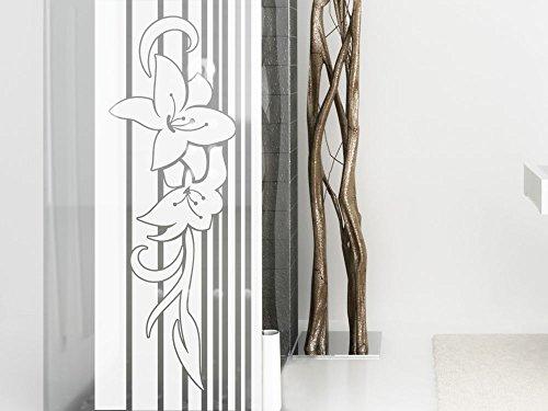 graz design 980043 57 glasdekor fensterfolie aufkleber sichtschutz glast r blumen retro banner. Black Bedroom Furniture Sets. Home Design Ideas