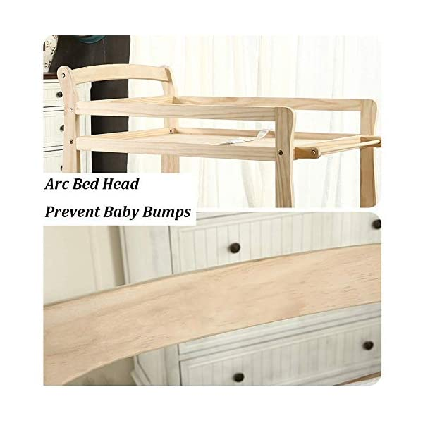 Baby Changing Table Wooden On Wheels - Infant Newborn Nursery Mobile Diaper Station Height Adjustable, Baby Cot (Color : Green) GUYUE 3-gear higth adjustment, the height can be adjusted freely according to the height of the mother. Guardrail: Guardrail height 13cm, Protect your baby's delicate body. Strong and sturdy wood construction, Pine wood production, health and Environmental Protection.(Load bearing 150kg) 7