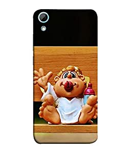 FUSON Designer Back Case Cover for HTC Desire 828 Dual Sim (Toon old Men cartoon Smiling Arts)