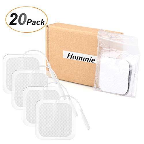 20 Piezas TENS Electrodos Pad, Hommie Almohadillas para Electroestimuladores - Parches TENS EMS (50 x 50 mm)
