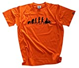 Shirtzshop Herren Standard Edition Ddr Moped Motorroller Scooter Evolution T-Shirt, Orange, XXXL