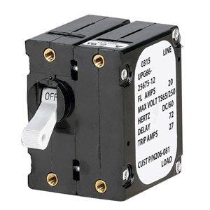 Paneltronics 'A' Frame Magnetic Circuit Breaker - 25 Amps - Double Pole