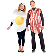 """Tocino y huevo desayuno disfraces de parejas M/L (chest 40-42"""")"""