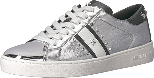 MICHAEL Michael Kors Women's Frankie Metallic Leather Striped Sneakers