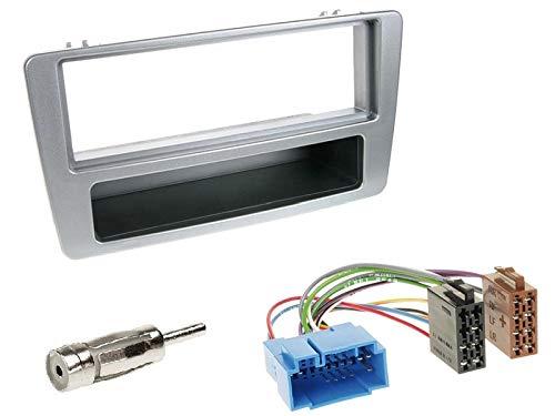 1 Din Radio Einbauset Blende Radioanschlusskabel Antennenadapter für Honda Civic VII (EP*/EU*) 2001-2003