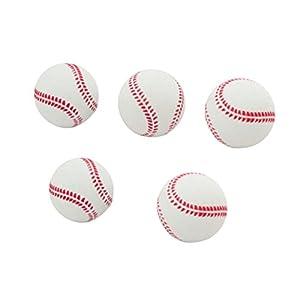 TOYMYTOY 5 Stücke 2,5 Zoll Sport Baseball Rubber Praxis Bounce Ball für...