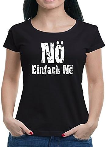 TLM Nö einfach Nö T-Shirt Damen M Schwarz (Einfache Katze-kostüme Für Frauen)