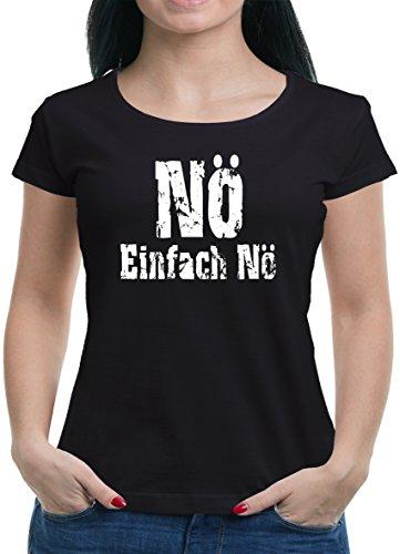 TLM Nö einfach Nö T-Shirt Damen L Schwarz (Kostengünstige Kostüme)