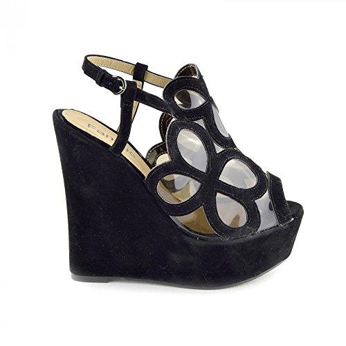 Kick Footwear Kick Footwear, Scarpe col tacco donna Nero nero (Black-Model No.1)