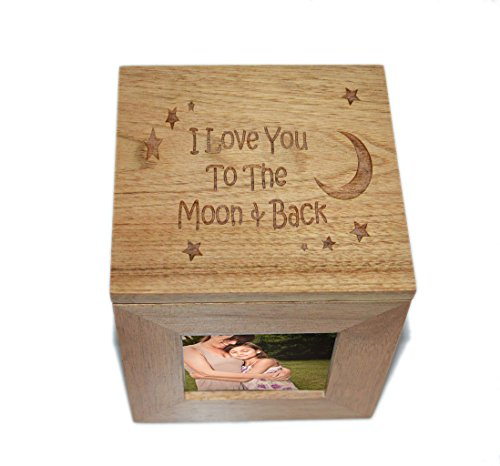 I love you to the moon and back Foto Cube Box