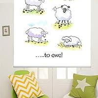 Diseño con texto de tinta carcasa diseño de oveja con texto en inglés y pintura estilo enrollables cm