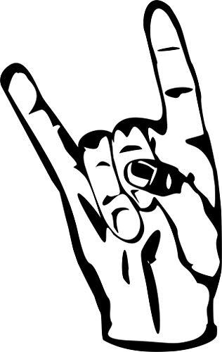Metal - Pommesgabel - Heavy Metal - Deathmetal - Musik - Music// Autoaufkleber // verschiedene Farben und Größen (Grau - 210 mm x 130 mm) -