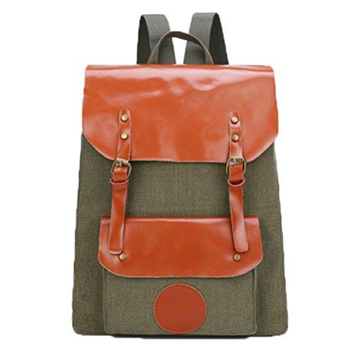 Ohmais Rücksack Rucksäcke Rucksack Backpack Daypack Schulranzen Schulrucksack Wanderrucksack Schultasche Rucksack für Schülerin grün