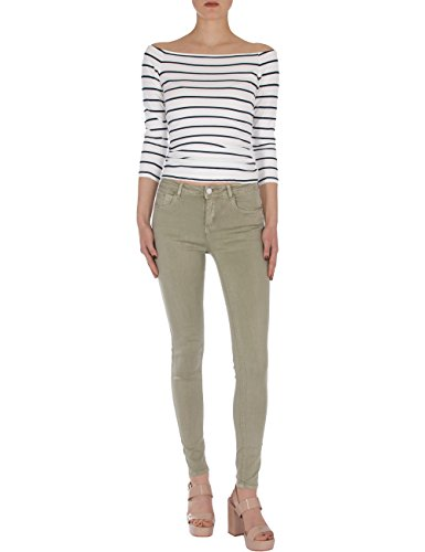 Fraternel Jeans donna skinny aderente effetto push-up cachi